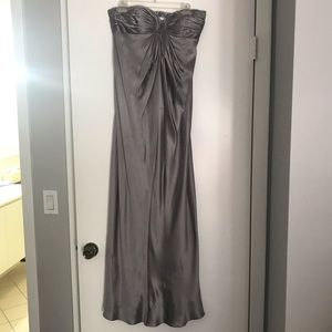 Laundry by Shelli Segal Silk Strapless Gown